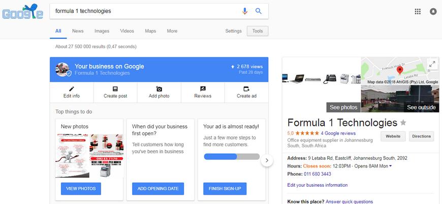 edit my google business website